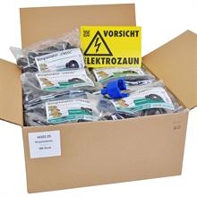 VOSS.farming Set - 500x Ringisolator + Einschraubhilfe + Warnschild