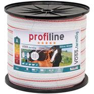 VOSS.farming Weidezaun Band 200m, 40mm, 1x0,3 Kupfer + 9x0,2 Niro, weiß-rot 3***