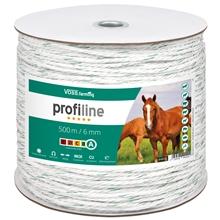 Weidezaun Seil 500m 6mm, 3x0,30 Kupfer + 3x0,3 Niro, weiß-grün 4****
