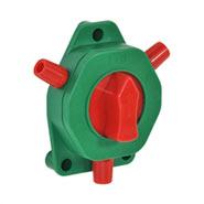 VOSS.farming Zaunschalter mit robustem Drehknopf neue Ausführung, rot/grün