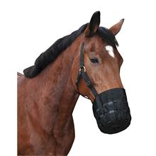 Maulkorb mit Halfter - Fressbremse für Pferde und Ponys