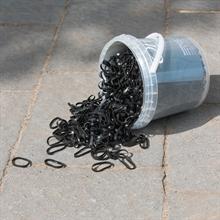Mähnengummis, Einflechtgummis - breite, reißfeste Mähnenbänder im Eimer, ca. 1800 Stück