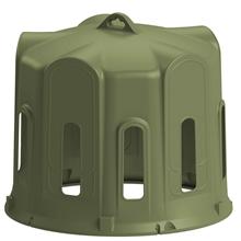 KERBL Heuglocken-Set: Heuglocke für Rundballen mit 10 kleinen Fressöffnungen+Bodenplatte+Verankerung