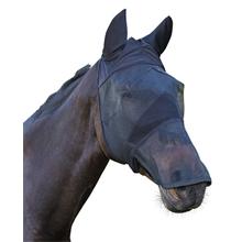 Fliegenschutzmaske mit Ohren- und Nüsternschutz für Pferde und Ponys