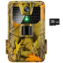 "Wildkamera ""LUNIOX VC36"", Fotofalle 36MP + HD Video, inkl. 16GB SD Karte"