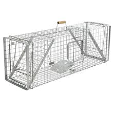 Lebendfalle mit Schnapptüren - Kastenfalle für Dachse und Füchse, 33x42x118cm