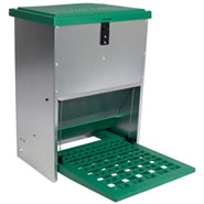 FEED-O-MATIC Geflügelfutterautomat mit Trittplatte, verzinkt, 12kg