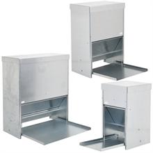 Geflügelfutterautomat mit Trittplatte, verzinkt, 10l, 20l oder 40l