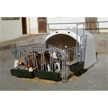 "KERBL ""CalfHouse Premium 4/5"", Großraumhütte für Kälber mit Umzäunung"