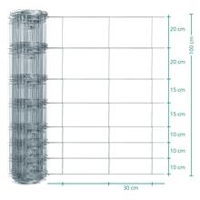50m VOSS.farming Premium Wildzaun, Knotengeflecht, Höhe 100cm - 100/08/30