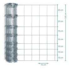 50m VOSS.farming Premium Wildzaun, Knotengeflecht, Höhe 100cm - 100/08/15