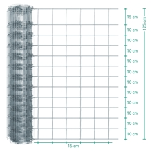 50m VOSS.farming Premium Wildzaun, Knotengeflecht, Höhe 125cm - 125/13/15