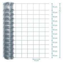 50m VOSS.farming Premium Plus Wildzaun, Knotengeflecht, Höhe 125cm - 125/13/15