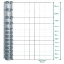 50m VOSS.farming Premium Plus Wildzaun, Knotengeflecht, Höhe 150cm - 150/13/15