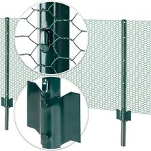 8x VOSS.farming U-Profil Metall-Pfähle, Zaunpfosten für Drahtgeflecht 87cm