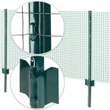 8x VOSS.farming U-Profil Metall-Pfähle, Zaunpfosten für Drahtgeflecht 107cm
