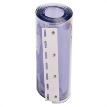 Ersatz PVC-Streifen, transparent, 30 cm x 225 cm, 3 mm stark - montiert auf Edelstahl Klemmprofil