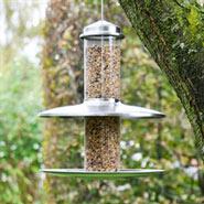 Original dänische Vogelfutterstation Smøllebird XXL mit Futterschale und Abdeckung, Durchmesser 30cm