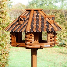 """Riesengroßes VOSS.garden Vogelhaus """"Herbstlaub"""" aus Holz (ohne Ständer)"""