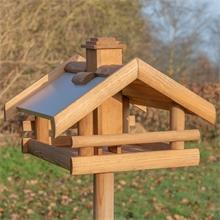 """VOSS.garden """"Grota"""" - hochwertiges Vogelhaus aus Holz, inkl. Ständer"""