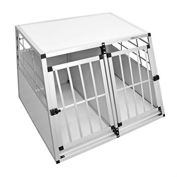 "VOSS.PET Hundebox ""Balu"" Qualitäts-Transportbox XXL, 104x91x69cm + Trennwand + Doppeltür"