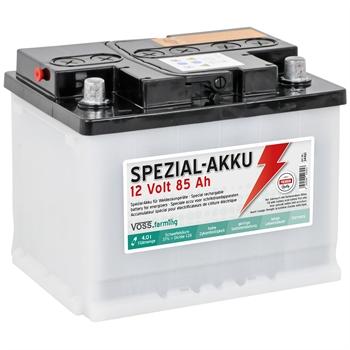 VOSS.farming Spezialakku für Weidezaungeräte - Lieferung ohne Säure, 12V/ 85Ah