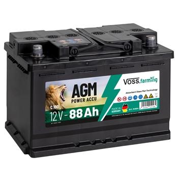 "VOSS.farming ""12V AGM Akku 88Ah"" für Weidezaungeräte"