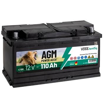 "VOSS.farming ""12V AGM Akku 110Ah"" für Weidezaungeräte"
