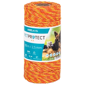 "VOSS.PET Elektrozaun Litze ""PETPROTECT"", 100m, 3x Niro, orange"