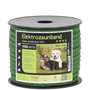 VOSS.PET Elektrozaun Band 125 m, 7 mm, 4x0,25 TLD (grün)