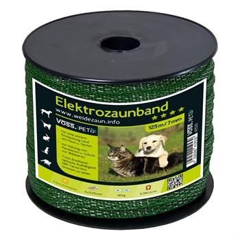 """Elektrozaun Band """"MiniPet"""" 125m, 7mm, 4x0,20 TLD, grün"""