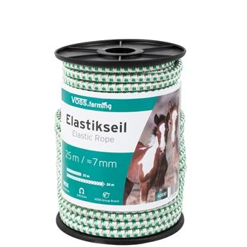 VOSS.farming Elastikseil E-Line, Gummi-Elektroseil, 25m-50m, Ø 7mm, weiß-grün