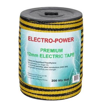"""Weidezaunband """"E-Power"""" 200m, 12mm, 7x0,2 Niro, gelb-schwarz"""