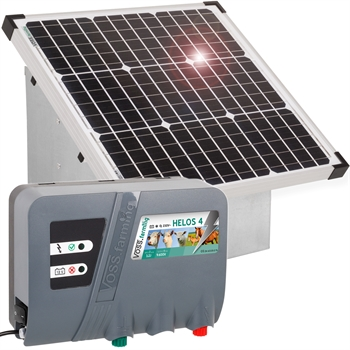 VOSS.farming Set: 35W Solarsystem + 12V Weidezaungerät HELOS 4 + Tragebox
