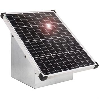 VOSS.farming Set: 55W Solarsystem für 12V Weidezaungerät + Tragebox