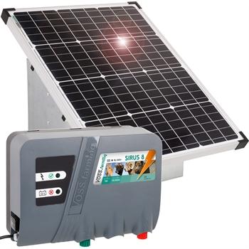 VOSS.farming Set: 55W Solarsystem + 12V Weidezaungerät SIRUS 8 + Tragebox