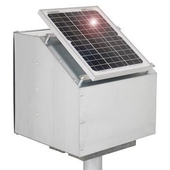 VOSS.farming 12W Solar Anti-Diebstahlkasten, Weidezaun, inkl. Aufstellpfahl