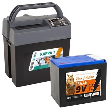 """VOSS.farming """"KAPPA 7"""" starkes Allround-Weidezaungerät 9V, 12V, 230V + High Energy Batterie 135Ah"""