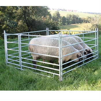 Steckfix-Horden-SET für Schafe mit Tor, 2,75 m x 0,92 m, verzinkt