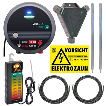 VOSS.farming Set: 230V Weidegerät + Zaunprüfer + Zubehör