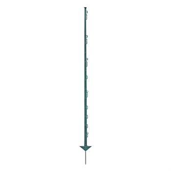 20x VOSS.farming Weidezaunpfähle, Kunststoff, 150 cm, 14 Ösen, grün