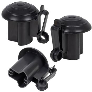 50x VOSS.farming Premium Kopfisolator für T-Post, T-Pfosten, schwarz, Sparpack