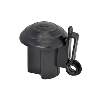 10x VOSS.farming Premium Kopfisolator für T-Post, T-Pfosten, schwarz