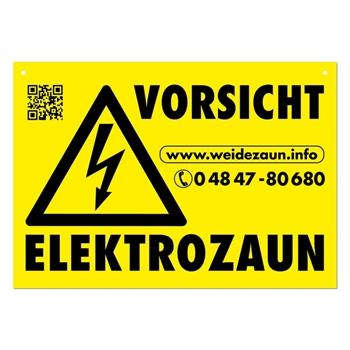 """Warnschild """"VORSICHT ELEKTROZAUN"""""""