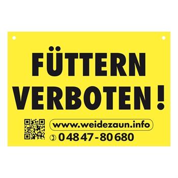 """5x Warnschilder """"FÜTTERN VERBOTEN"""""""