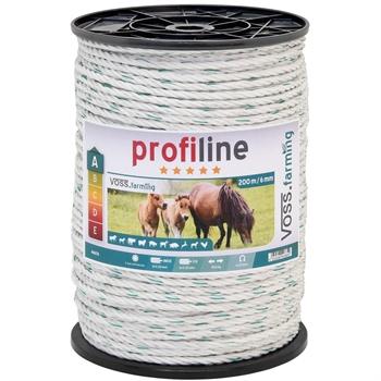 Weidezaun Seil 200m 6mm, 3x0,30 Kupfer + 3x0,3 Niro, weiß-grün 4****