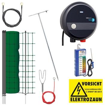 "Komplettset mit Kleintier-Netz, 50m / 65cm, Elektrozaun ""PetControl"""
