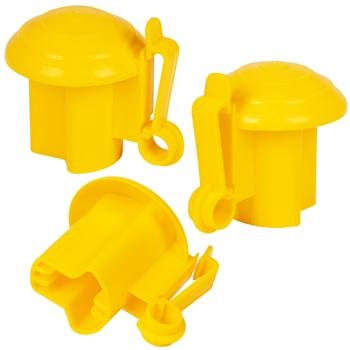 50x VOSS.farming Premium Kopfisolator für T-Post, T-Pfosten, gelb, Sparpack