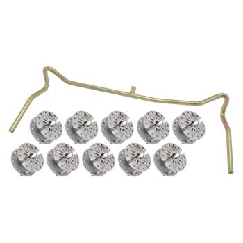 10x Draht-, und Seilspanner + Bügel, Set