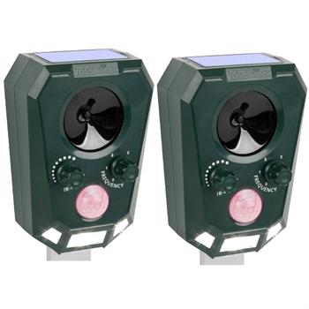 Doppelpack: VOSS.sonic 2200 Ultraschall-Abwehr mit Solarbetrieb
